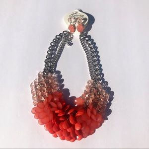 Beaded Statement Necklace with Matching Earrings